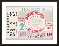 1953 Ohio State vs. Illinois Picture Frame print