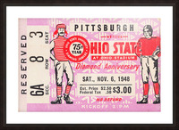 1948 Ohio State vs. Pittsburgh  Picture Frame print