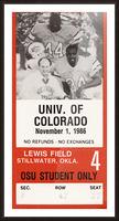 1986 Oklahoma State vs. Colorado Picture Frame print
