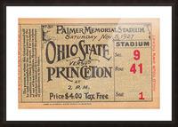 1927 Ohio State vs. Princeton  Picture Frame print