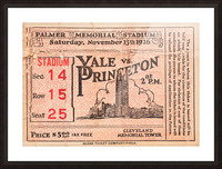 1926 Yale vs. Princeton Picture Frame print