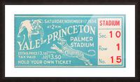 1934 Yale vs. Princeton Picture Frame print