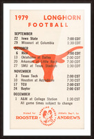 1979 Texas Longhorn Football Picture Frame print