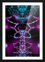 VERT PURP Picture Frame print