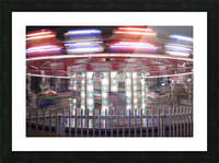 Merry-go-round in tourist area Saint Augustine Florida USA Picture Frame print