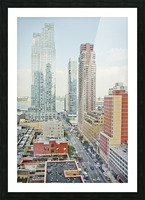 Architectural image of Hells kitchen Manhatten New york USA 2011 Picture Frame print