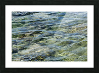 Close up of water on shore of slovenian resort town Piran Slovenia Picture Frame print