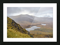 Mountain top view through Conors Pass co. kerry Ireland Europe 2018 Picture Frame print