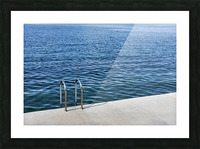 Pool ladder on the shore of the slovenian adriatic coast Piran Slovenia Picture Frame print