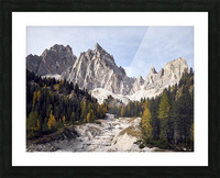 Mountain peaks of the italian dolomites Cortina dAmpezzo Italy Europe Picture Frame print