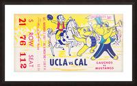 1957 UCLA vs. California  Picture Frame print