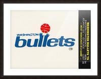 1979 Washington Bullets Fleer Decal  Picture Frame print
