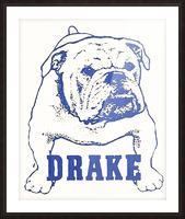 1950s Drake Bulldog Art Picture Frame print