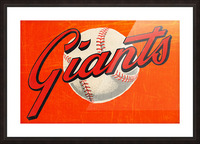 1960s San Francisco Giants Art Picture Frame print