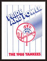 1988 New York Yankees Art Picture Frame print