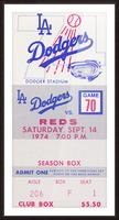 1974 LA Dodgers vs. Reds Picture Frame print