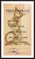 1934 Pitt vs. Notre Dame Football Press Pass Picture Frame print