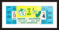 1971 Oregon vs. California Picture Frame print