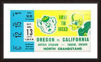1971 California vs. Oregon Picture Frame print