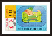 1966 Army vs. Notre Dame Picture Frame print