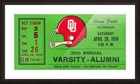 1978 Oklahoma Sooners Varsity Alumni Game Picture Frame print
