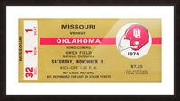 1974 Oklahoma vs. Missouri Picture Frame print