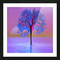 Tree Sunset Picture Frame print