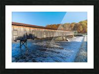 Harpersfield covered bridge and dam Ashtabula County autumn 2020 Picture Frame print