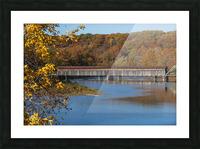 Harpersfield Ohio covered bridge in autumn Picture Frame print
