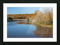 Grand River and Harpersfield covered bridge Picture Frame print