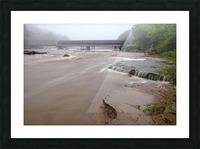 Grand River rapids at Harpersfield Covered Bridge Ohio Picture Frame print