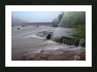 Harpersfield covered bridge and grand river rapids Picture Frame print
