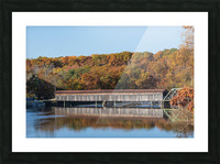 Harpersfield Ohio covered bridge autumn 2020 Picture Frame print