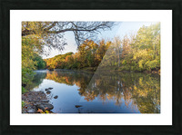 Autumn morning on the Grand River at Mechanicsville Ohio Picture Frame print