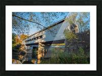 Mechanicsville covered bridge over Grand River Ohio Picture Frame print