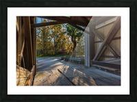 Portal of Mechanicsville covered bridge Ashtabula County Ohio Picture Frame print