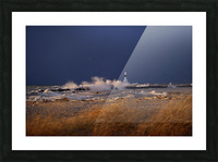 Conneaut lighthouse in storm Picture Frame print