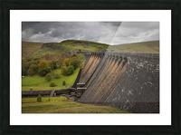 The Claerwen reservoir dam in Powys Picture Frame print