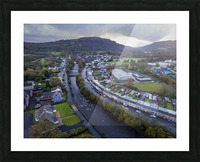 The river Tawe in Ystradgynlais Picture Frame print