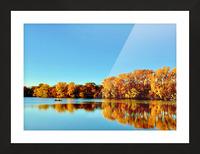 Autumn Canoe Picture Frame print