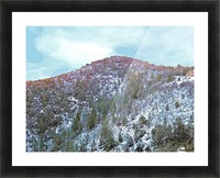 Melting Snow Picture Frame print