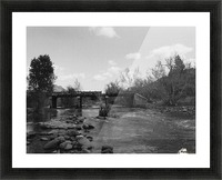 Old Railroad Picture Frame print