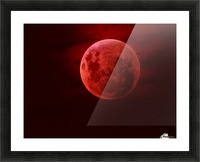 One Red Moon Picture Frame print