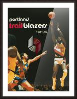1981 Portland Trailblazers Art Picture Frame print