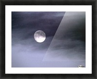 Full Moon Picture Frame print