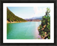 Utah Lake Impression et Cadre photo