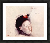 Portrait of Madame Lisle by Degas Picture Frame print