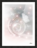 magical dream world of butterflies Picture Frame print