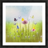 Spring meadow Picture Frame print