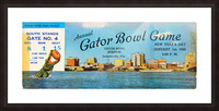 1948 Gator Bowl Georgia vs. Maryland Picture Frame print